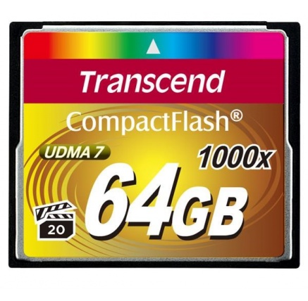 TRANSCEND Compact Flash Card (1000x) 64GB (Ultimate)
