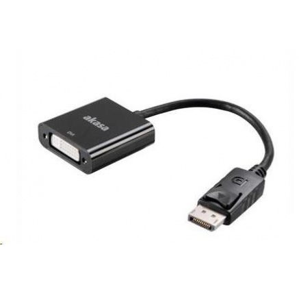 AKASA kabel redukce DisplayPort na DVI, 20cm