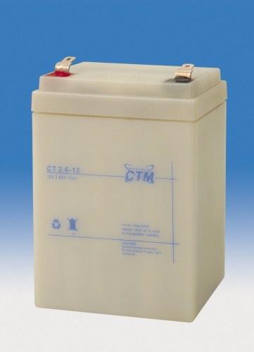 Baterie - CTM CT 12-2,6 (12V/2,6Ah - Faston 187)