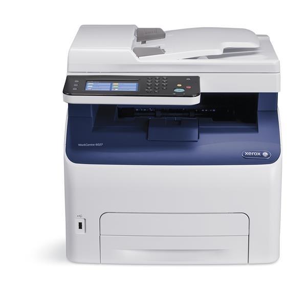 Xerox WorkCentre 6027Ni Barevná HiQ LED MFZ,A4, 18ppm, USB, Wi-Fi,NET, 512mb, PCL, Apple AirPrint, Google Cloud Print