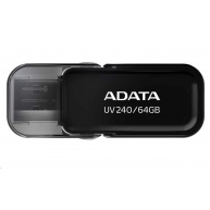 ADATA Flash Disk 64GB USB 2.0 Dash Drive UV240, Black