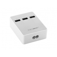 UGREEN USB Charging Station 3 Port—white color, White, 150 cm
