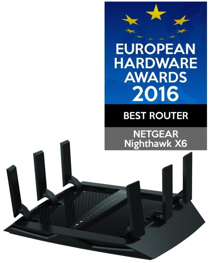 Netgear R8000 Nighthawk X6 WiFi AC3200 Router, 4x gigabit RJ45, 1x USB3.0, 1x USB2.0