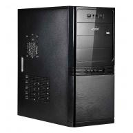 SPIRE skříň Maneo 1075, Midi Tower, black, USB 2.0, bez zdroje