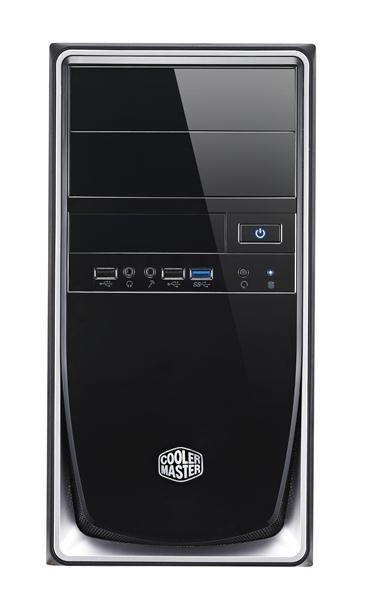 case Cooler Master minitower Elite 344, mATX,black-silver,USB3.0, bez zdroje