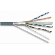 FTP kabel LYNX, Cat6, drát, PVC, Dca, šedý, 305m - pro kamerové systémy