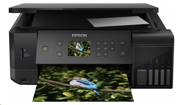 EPSON tiskárna ink L7160, 3in1, A4, 1440x5760 dpi, 32 ppm, 1200x2400 scan dpi, CIS, Wi-Fi, Ethernet, USB