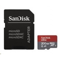 SanDisk Ultra microSDXC 200 GB 100 MB/s A1 Class 10 UHS-I, Android, Adaptér