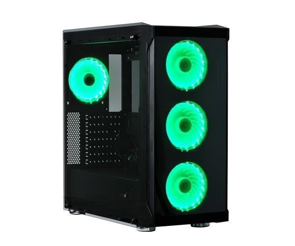 SPIRE skříň BLAZE III, USB 3.0, Midi Tower, gaming, bez zdroje, Black