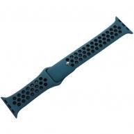 COTEetCI sportovní děrovaný řemínek pro Apple Watch 42 / 44mm černá/modrá
