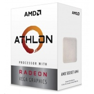 CPU AMD Athlon 220GE (Raven Ridge), 2-core, 3.4GHz, 5MB cache, 35W, socket AM4, VGA RX Vega, BOX