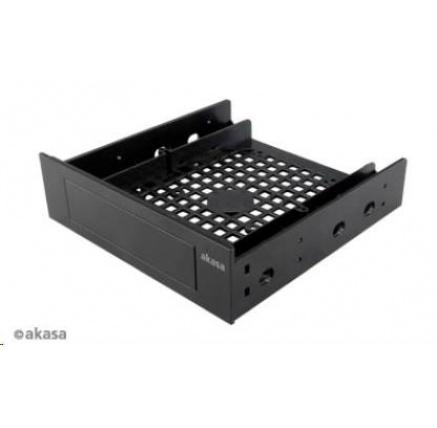 """AKASA Montážní kit  pro 3,5"""" HDD do 5,25"""" pozice, 1x 3,5"""" nebo 2,5"""" HDD/SSD, plastový, černý"""