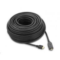 PREMIUMCORD Kabel HDMI 15m High Speed se zesilovačem 3x stíněný