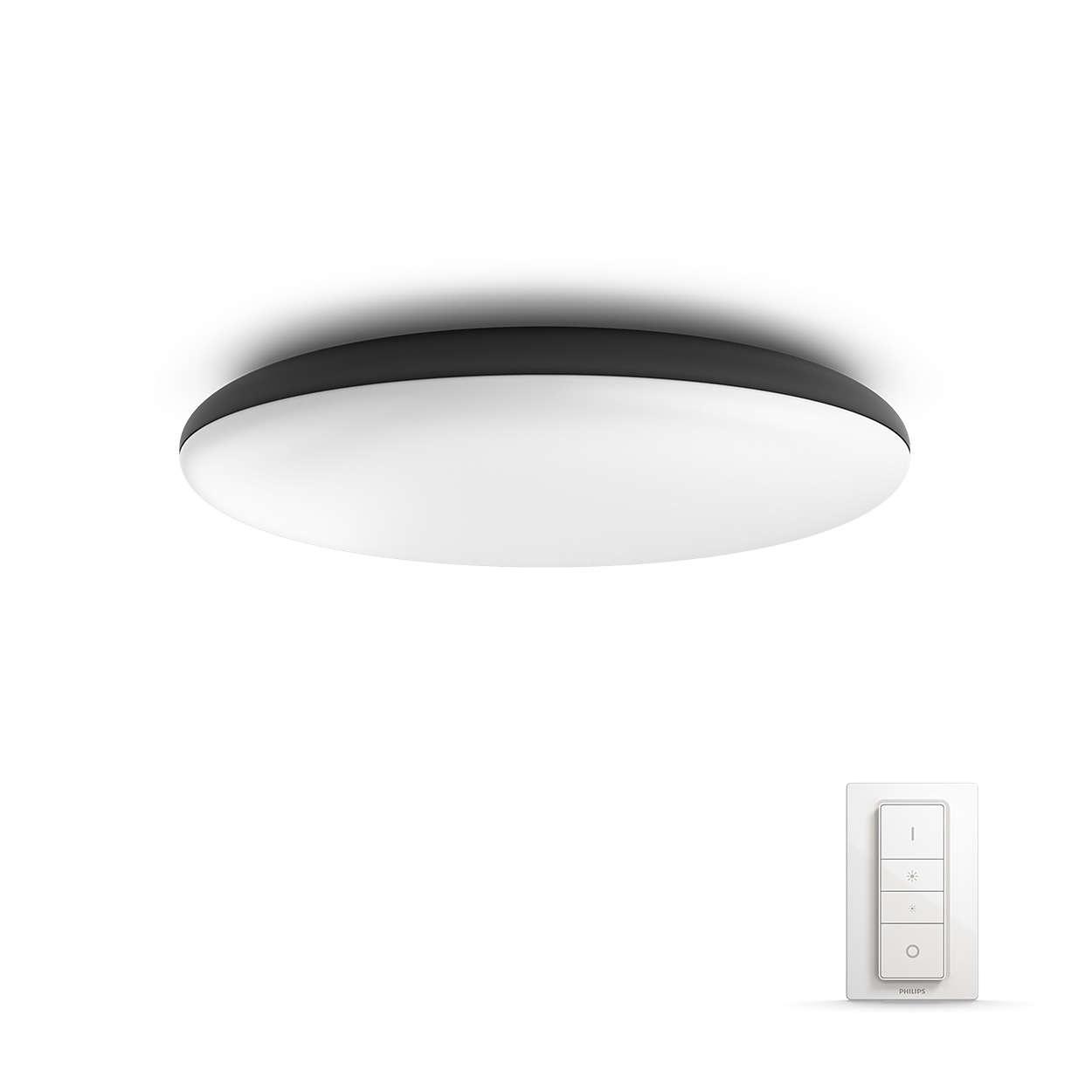 PHILIPS Cher Stropní svítidlo, Hue White ambiance,  230V, 1x39W integr.LED, Černá