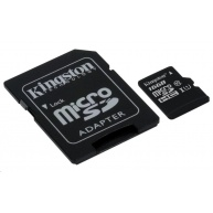 Kingston 16GB Micro SecureDigital (SDHC) Card, Class 10 UHS-I + SD adaptér