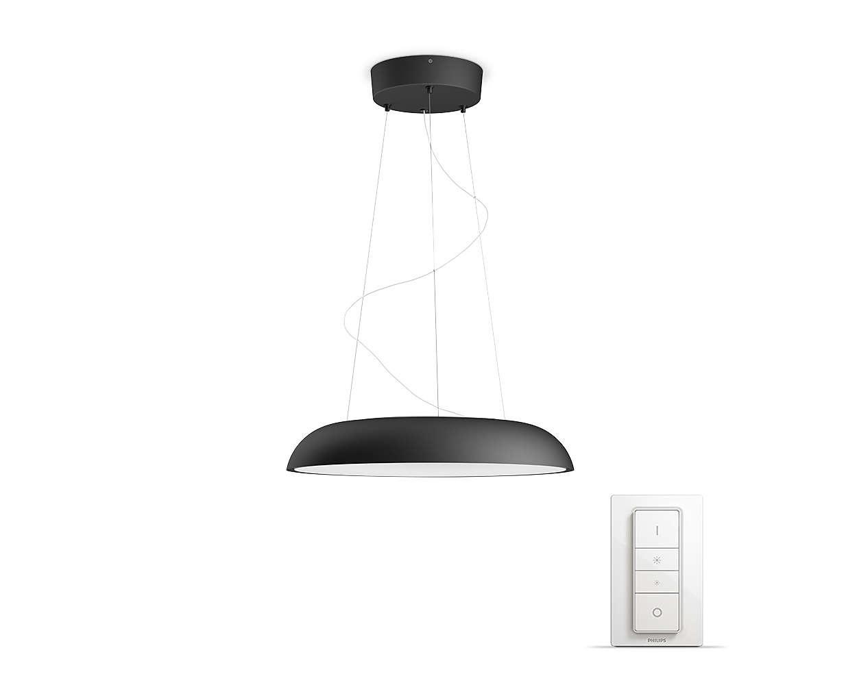 PHILIPS Amaze Závěsné svítidlo, Hue White ambiance, 230V, 1x39W integ.LED, Černá