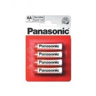 PANASONIC Zinkouhlíkové baterie - Red Zinc - blistr AA 1,5V balení - 4ks