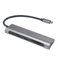 AKASA adaptér USB 3.1 Type-C 6-In-1 Dock
