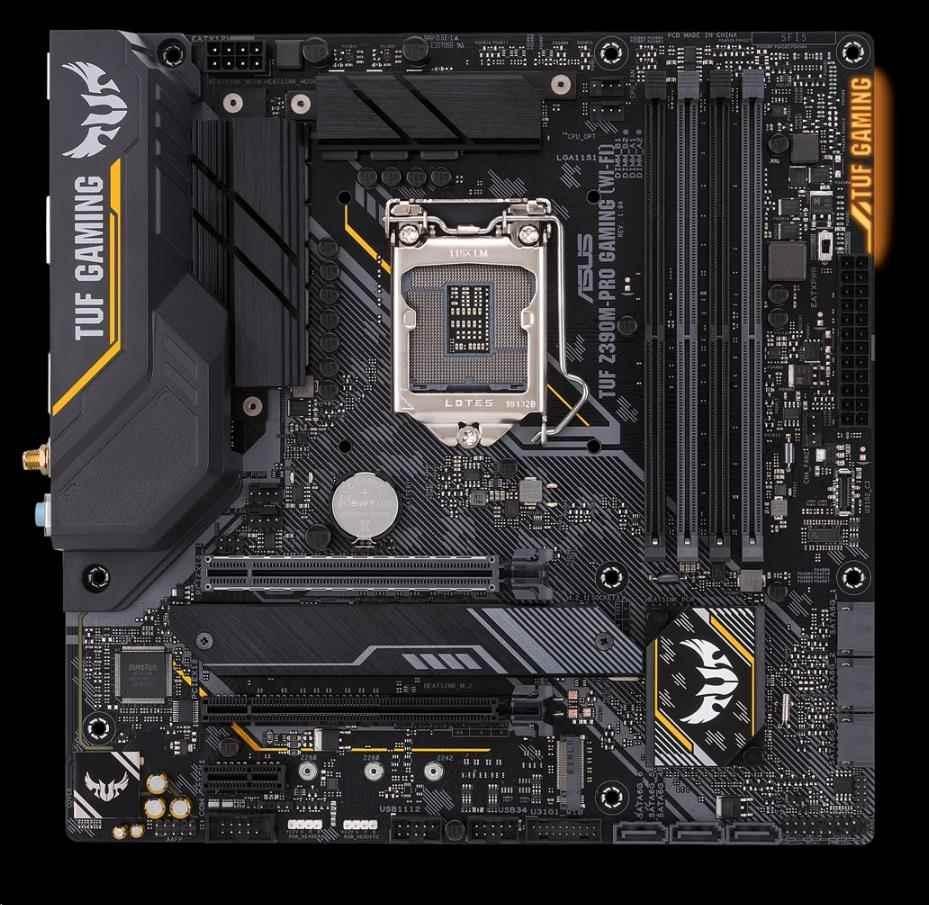 ASUS MB Sc LGA1151 TUF Z390M-PRO GAMING (WI-FI), Intel Z390, 4xDDR4, VGA, mATX, WI-FI