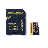 Nextbase - 64GB U3 Micro SD Card with Adapter