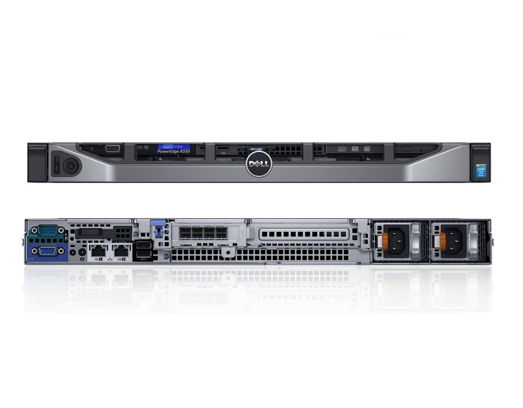 "DELL SERV PowerEdge R330/4x3.5"" Hot Plug/E3-1220 v6/16GB/2x4TB NLSAS/Rails/DVDRW/H730/iDRAC 8Ex/2x350w/3Y PS"
