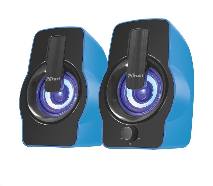 TRUST Gemi RGB 2.0 Speaker Set - modrý