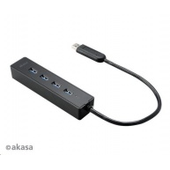 AKASA HUB USB Connect 4SX, 4x USB 3.0, externí