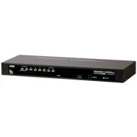 """ATEN 8-port KVM PS/2+USB, OSD, rack 19"""", kombo konzole"""