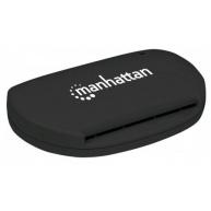 MANHATTAN Čtečka karet / SIM/ eObčanka , kontaktní, černá, USB 2.0