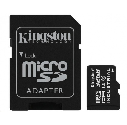 Kingston 32GB microSDHC UHS-I Class 10 Industrial Temp Card + SD Adapter