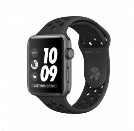 AppleWatch Nike+ Series 3 GPS, 38mm Space Grey Aluminium Case with Anthracite/Black Nike Sport Band