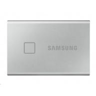 Samsung Externí SSD disk T7 touch - 1 TB - stříbrný