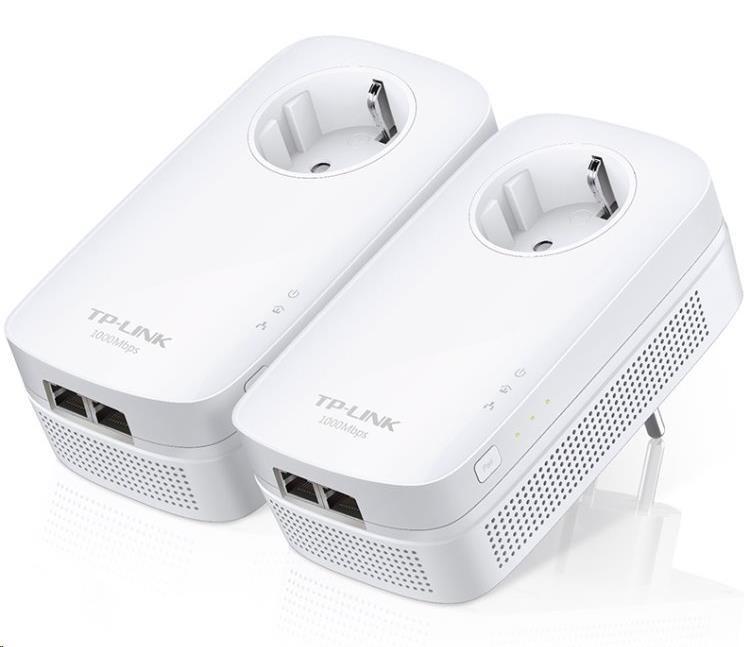 TP-Link Powerline ethernet TP-Link TL-PA7020PKIT Starter Kit (2ks) nano adaptér (AV1000 Mbps), průchozí zásuvka