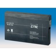 Baterie - CTM CT 12-2,0 (12V/2,0Ah - Faston 187), životnost 5let