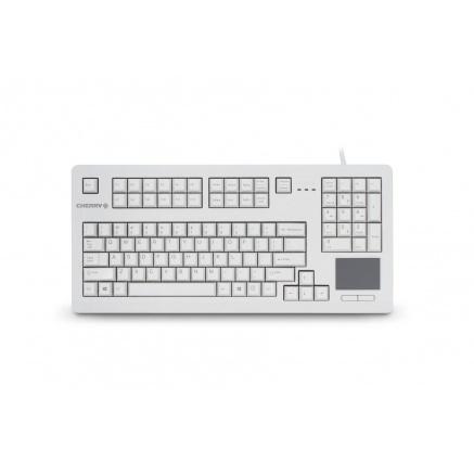 CHERRY klávesnice G80-11900 / touchpad / drátová / USB 2.0 / bílá / EU layout