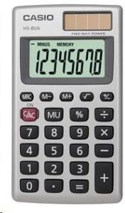 CASIO kalkulačka HS 8 VA, stříbrná, kapesní, osmimístná