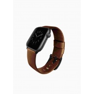 Uniq kožený řemínek Mondain pro Apple Watch série 4 (44 mm), hnědá
