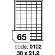 RAYFILM Štítky 38x21,2 univerzálne biele *R01000102A, 100 listů