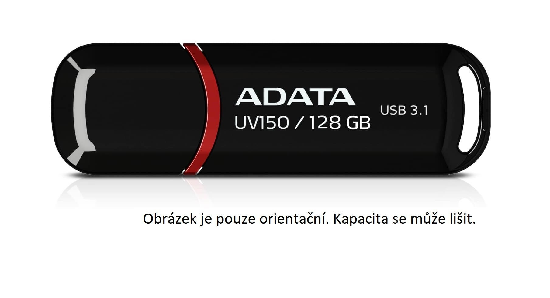 ADATA Flash Disk 32GB USB 3.1 Dash Drive UV150, černý (R: 90MB/s, W: 20MB/s)