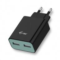 iTec USB Power Charger 2 Port 2.4A - USB nabíječka - černá