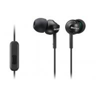 SONY stereo sluchátka MDR-EX110AP, černá