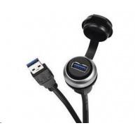 CONRAD USB vestavný adaptér Lütze 490113.0150, IP20/IP65, Typ A, 1,5 m