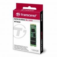 TRANSCEND M.2 SSD MTS820 120GB, M.2 2280, SATA III 6Gb/s, TLC, bulk