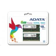 SODIMM DDR3L 16GB 1600MHz CL11 (KIT 2x8GB) ADATA Premier memory, 512x8, Dual kit