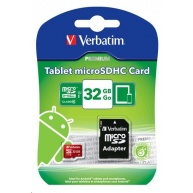 VERBATIM Micro SecureDigital SDHC 32GB Class 10 + SD adaptér