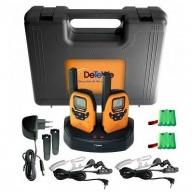DeTeWe vysílačka Outdoor 8000 DuoCase (2 ks, dosah až 9 km), oranžová