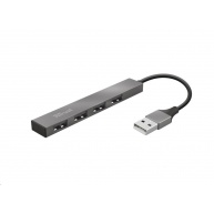 TRUST rozbočovač HALYX, Aluminium 4-Port Mini USB Hub, 10cm