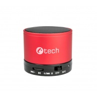 C-TECH repro SPK-04R, bluetooth, červené