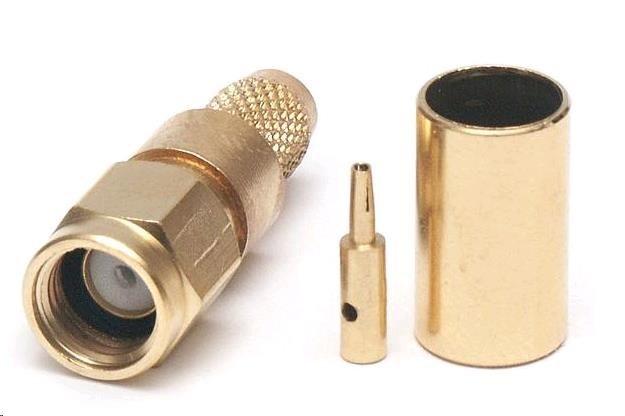 VF konektor RSMA male pozlacený na H155, RF240