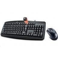 GENIUS klávesnice s myší Smart KM-200/ Drátový set/ USB/ černá/ CZ+SK layout